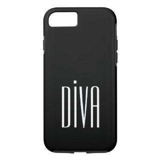 """CHIC IPHONE CASE_GIRLY """"DIVA"""" BLACK/WHITE iPhone 8/7 HÜLLE"""
