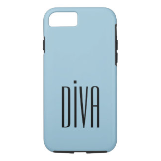 """CHIC IPHONE CASE_GIRLY """"DIVA"""" BLUE/BLACK iPhone 8/7 HÜLLE"""