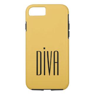 "CHIC IPHONE CASE_GIRLY ""DIVA"" MERIGOLD/BLACK iPhone 8/7 HÜLLE"