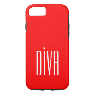 """CHIC IPHONE CASE_GIRLY """"DIVA"""" RED/WHITE iPhone 8/7 HÜLLE"""