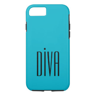 """CHIC IPHONE CASE_GIRLY """"DIVA"""" TURQUOISE/BLACK iPhone 8/7 HÜLLE"""