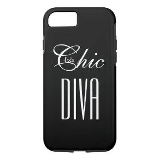 "CHIC IPHONE CASE "" tres schicke DIVA"" BLACK/WHITE"