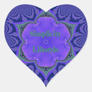 Chic-lila Lavendel-'Einfachheit Lifestyle Herz-Aufkleber