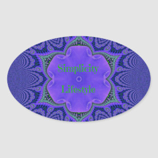 Chic-lila Lavendel-'Einfachheit Lifestyle Ovaler Aufkleber