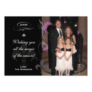 Chic-Lilien-Feiertags-Foto-Karte 12,7 X 17,8 Cm Einladungskarte