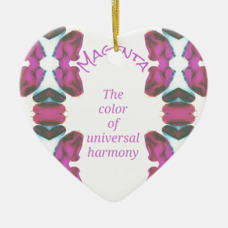 Chic-'magentarote Farbe der universellen Harmonie Keramik Ornament