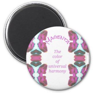 Chic-'magentarote Farbe der universellen Harmonie Runder Magnet 5,1 Cm