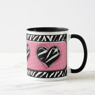 Chic meine Herz-Rosazebra-Druck-Tasse Tasse