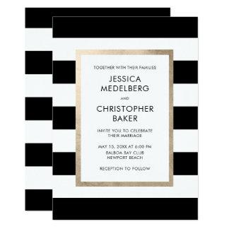 Chic-moderne mutige Schwarz-weiße Karte