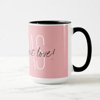 """CHIC MUG_ """" Nanas geben die beste Liebe"""" _PINK Tasse"""