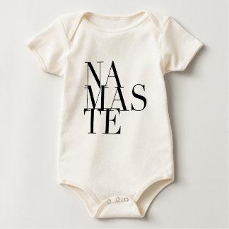 Chic Namaste Yoga-inspirierter Bodysuit Baby Strampler