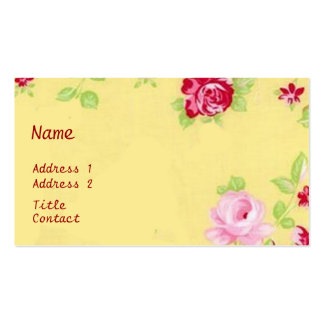 Chic-Rosen-Geschäfts-Karte Visitenkartenvorlage