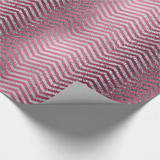 Chic-Rosengold- und -silber-Glitter metallisch Geschenkpapier