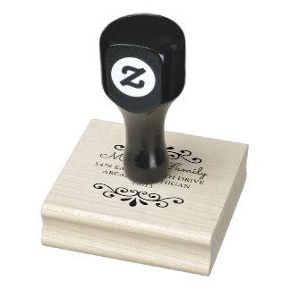 Chic-runde Rücksendeadresse-Gummi-Briefmarke Gummistempel