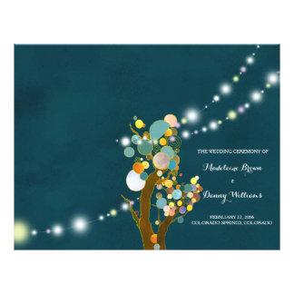 Chic-Schnur beleuchtet aquamarine Hochzeits-BiFold Flyer