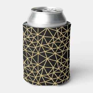 Chic-schwarzer GoldGlitzer-Streifen-geometrisches Dosenkühler