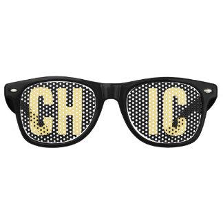 """""""CHIC"""" Schwarzweiss-Party Sonnenbrille"""