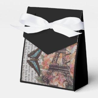 Chic Scripts französischen Schmetterling Geschenkschachtel