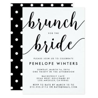 Chic-Skriptbrunch-Brautparty-Einladungen Karte