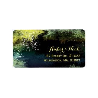 Chic-Starry Abends-Hochzeits-Adresse Adressaufkleber