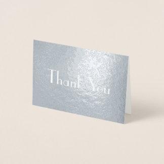 Chic-stilvoller Schriftart dankt Ihnen Folienkarte