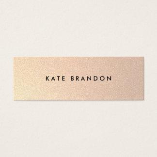Chic-stilvolles Imitat bürstete Mini Visitenkarte