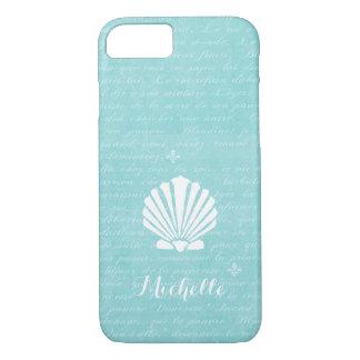 Chic-Strand-Girly Aqua-Kamm-Muschel-Muschel mit iPhone 8/7 Hülle