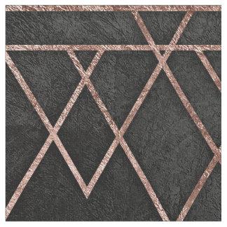 Chic u. elegantes Imitat-Rosen-Goldgeometrische Stoff