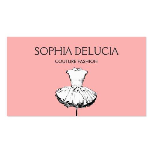 Chic und Girly Kleiderhellrosa Mode-Butike Visitenkarten