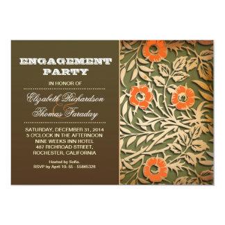 Chic-Verlobungs-Party laden ein 12,7 X 17,8 Cm Einladungskarte