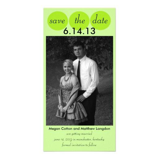 Chic-Vogel-Silhouette u. Punkte Save the Date in L Photokarten