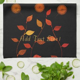 Chic-warme Fall-Paletten-personalisiertes Handtuch