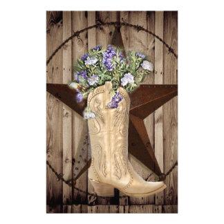 Chic-Wildblume-Texas-Stern-Westernlandcowgirl Briefpapier
