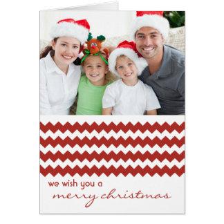 Chic-Zickzack Rot gefaltete Weihnachtskarte Karte