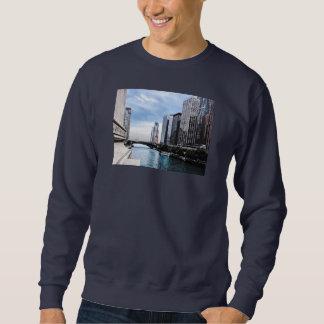 Chicago - Ansicht von der Michigan-Alleen-Brücke Sweatshirt