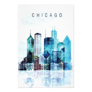 Chicago-Aquarell Fotodruck