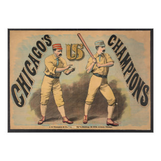 Chicago-Baseballteam Fotodruck