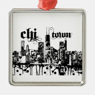 """Chicago """"Chistadt"""" setzte sich an für Ihre Stadt Silbernes Ornament"""