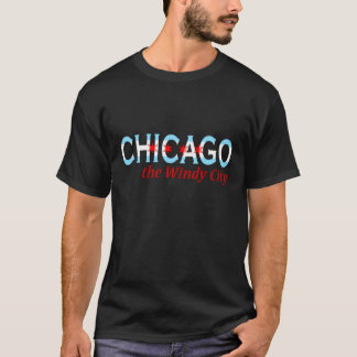 Chicago die windige Stadt, Chicago-Flaggen-Entwurf T-Shirt