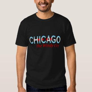 Chicago die windige Stadt, Chicago-Flaggen-Entwurf T Shirts