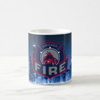 Chicago-Feuer mit Skylinen Kaffeetasse