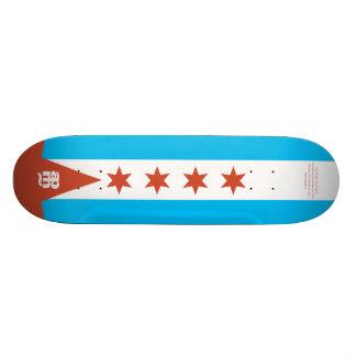 Chicago-Flagge 21,6 Cm Skateboard Deck