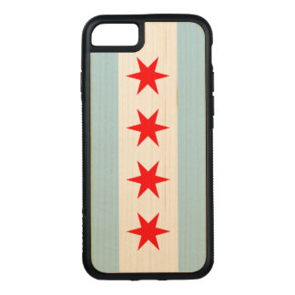 Chicago-Flagge - hölzerner Fall