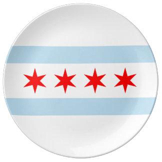 Chicago-Flagge Teller Aus Porzellan