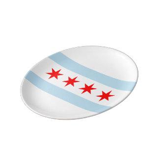 Chicago-Flagge Porzellanteller