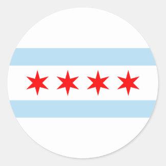 Chicago-Flagge Runder Aufkleber