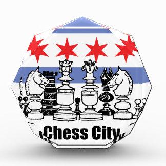 Chicago-Flagge u. Schach-Brett Auszeichnung