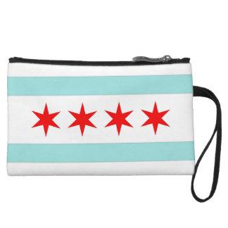 Chicago-Flagge Wristlet
