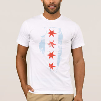 Chicago-Flaggen-Illinois-T-Shirt T-Shirt