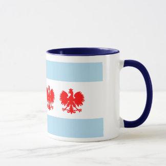 Chicago-Flaggen-Polnischart-Tasse Tasse